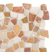 Marmorimosaiikki Qualitystone Mosaic Terra-White Interlock, verkolla, vapaa mitta
