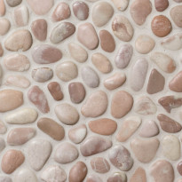 Qualitystone Pebble Caramel Dark, Interlock, verkolla, 300x300 mm