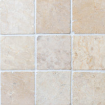 Marmorilaatta Qualitystone Square White, 100 x 100 mm
