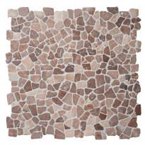 Travertiinimosaiikki Qualitystone Mosaic Coco Brown Interlock, verkolla, vapaa mitta