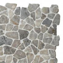 Marmorimosaiikki Qualitystone Mosaic Light Grey Interlock, verkolla, vapaa mitta