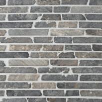 Marmorimosaiikki Qualitystone Stick Light Gray, verkolla, 10 mm x vapaa mitta