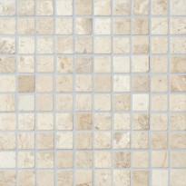 Marmorimosaiikki Qualitystone Square White, verkolla, 30 x 30 mm