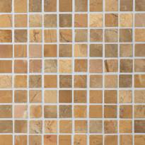 Marmorimosaiikki Qualitystone Square Mustard, verkolla, 30 x 30 mm