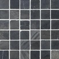 Marmorimosaiikki Qualitystone Square Gray, verkolla, 50 x 50 mm