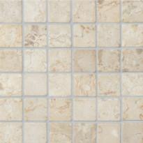 Marmorimosaiikki Qualitystone Square White, verkolla, 50 x 50 mm