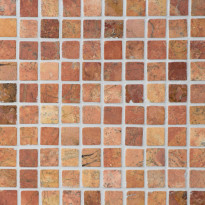 Marmorimosaiikki Qualitystone Square Terra, verkolla, 30 x 30 mm