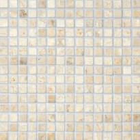 Marmorimosaiikki Qualitystone Square White, verkolla, 20 x 20 mm