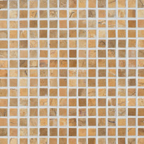 Marmorimosaiikki Qualitystone Square Mustard, verkolla, 20 x 20 mm