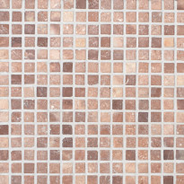 Travertiinimosaiikki Qualitystone Square Coco Brown, verkolla, 20 x 20 mm
