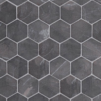 Marmorimosaiikki Qualitystone Hexagon Gray, verkolla, 60 x 60 mm