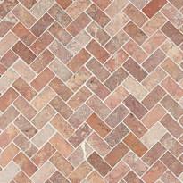 Marmorimosaiikki Qualitystone Herringbone Terra, 30 x 60 mm