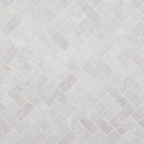 Marmorimosaiikki Qualitystone Herringbone White, 30 x 60 mm