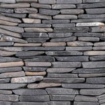 Marmorimosaiikki Qualitystone Standing Gray Interlock, verkolla, vapaa mitta