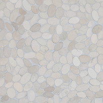 Qualitystone Sliced Pebble White, Interlock, verkolla, 300x300 mm