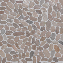 Qualitystone Sliced Pebble Asian Tan, Interlock, verkolla, 300x300 mm