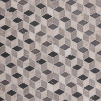 Marmorimosaiikki Qualitystone Dimention Gray-Light Gray-White, verkolla, 300 x 300 mm