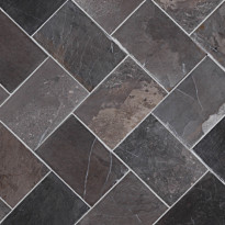 Marmorilaatta Qualitystone Herringbone Gray, 100 x 150 mm
