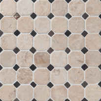 Marmorimosaiikki Qualitystone Classic White-Gray, verkolla, 50x50/10x10 mm