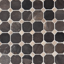 Marmorimosaiikki Qualitystone Classic Gray-White, verkolla, 50x50/10x10 mm