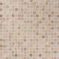 Marmorimosaiikki Qualitystone Crema Light, kiiltävä, verkolla, 305 x 305/15 x 15 mm