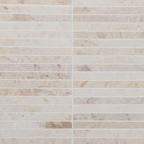Marmorimosaiikki Qualitystone Crema Light, kiiltävä, verkolla, 305 x 305/15 x 151 mm
