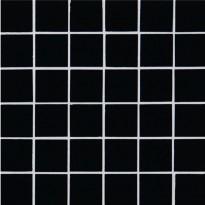 Lasimosaiikki Qualitystone Crystal Black, verkolla, 48 x 48 mm