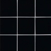 Lasimosaiikki Qualitystone Crystal Black, 100 x 100 mm