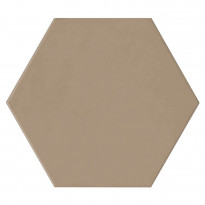 Keraaminen laatta Qualitystone Hexagon Brown, 175 x 175 mm