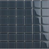 Lasimosaiikki Qualitystone Crystal Gray, verkolla, 48 x 48 mm