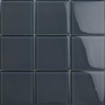 Lasimosaiikki Qualitystone Crystal Gray, 100 x 100 mm