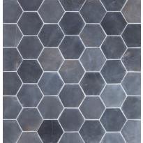 Marmorilaatta Qualitystone Hexagon Gray, 100 x 100 mm, myyntierä 6,51m², Verkkokaupan poisotuote
