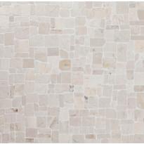 Marmorimosaiikki Qualitystone Roman White, verkolla, vapaa mitta