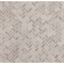Mosaiikkilaatta Qualitystone Herringbone White Mini, 20x40mm