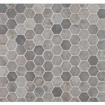 Mosaiikkilaatta Qualitystone Hexagon Light Grey, 60x60mm