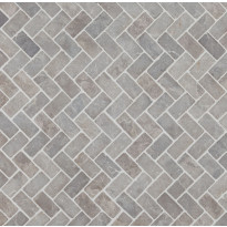 Mosaiikkilaatta Qualitystone Herringbone Light Grey, 30x60mm