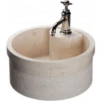 Pesuallas Qualitystone WB SOYAM, Ø450mm, marmori, beige