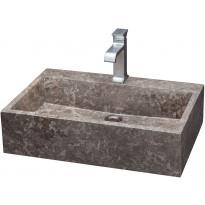Pesuallas Qualitystone WB KKL, 400x600mm, marmori, harmaa, Verkkokaupan poistotuote