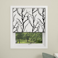 Rullakaihdin Debel Tree, 110x175cm, pimentävä, valkoinen