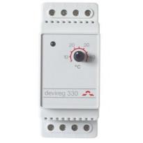 Termostaatti Devireg 330, +5°-+45°, DIN-kiskoasennus
