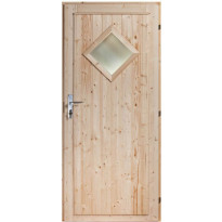 Mökkiovi Nordic Timber Diamond 10 x 21, puuvalmis, karmi 90 mm