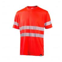 T-paita Dimex 4235+, hi-vis, punainen