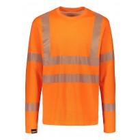 Paita Dimex 4295+, hi-vis, pitkähihainen, oranssi