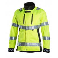 Työtakki Dimex 6012, naisten malli, hi-vis, keltainen/musta