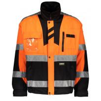 Työtakki Dimex 60191, hi-vis, oranssi/musta