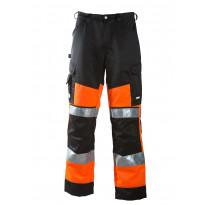 Työhousut Dimex 6020, hi-vis, oranssi/musta