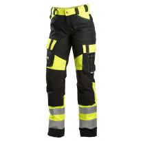 Työhousut Dimex 6046, naisten malli, hi-vis, stretch, keltainen/musta
