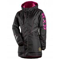 Naisten takki Dimex 6079, musta/pinkki