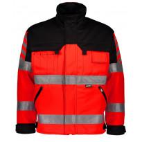 Työtakki Dimex 6210, hi-vis, punainen/musta