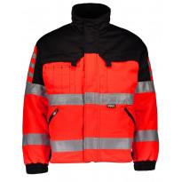 Talvitakki Dimex 6240, hi-vis, punainen/musta
